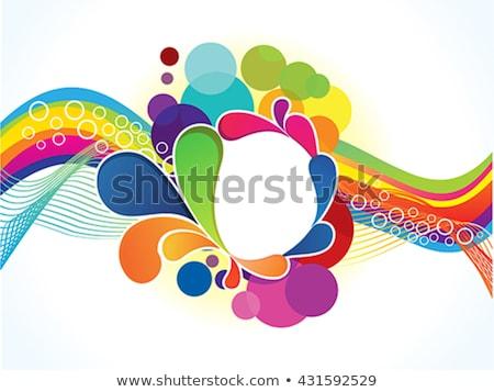 abstract artistic rainbow wave explode Stock photo © pathakdesigner