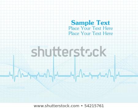 Orvosi egészségügy gyógyszertár szívverés hullám absztrakt Stock fotó © SArts