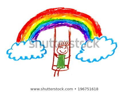 swing over the rainbow Stock photo © psychoshadow