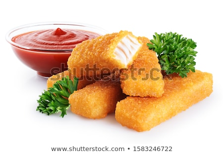 Сток-фото: пальца · рыбы · Stick · продовольствие · детей