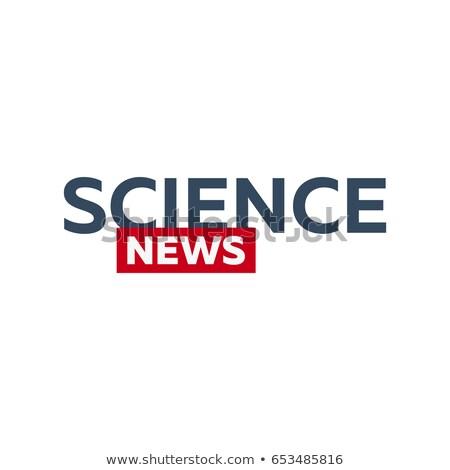 масса СМИ науки Новости логотип телевидение Сток-фото © Leo_Edition