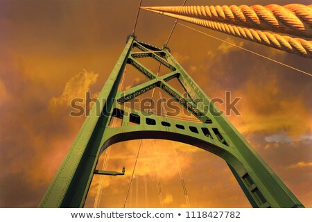 Lions Gate Bridge Cable Support Tower Stock photo © davidgn