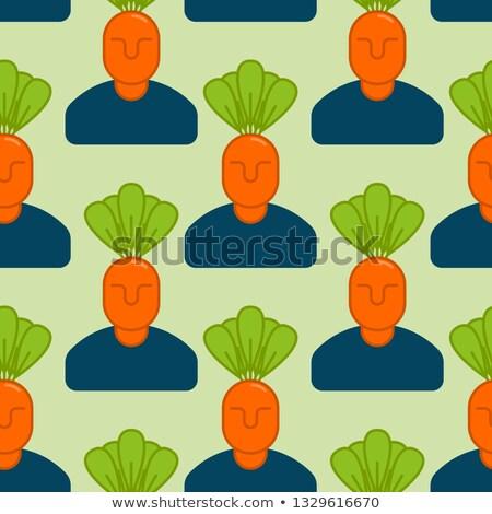 Office vegetables garden. Manager of carrots. Vegetable Departme Stock photo © popaukropa