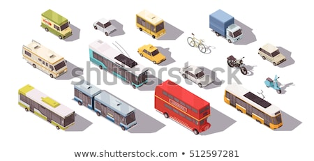 Isometric city tram Stock photo © Genestro
