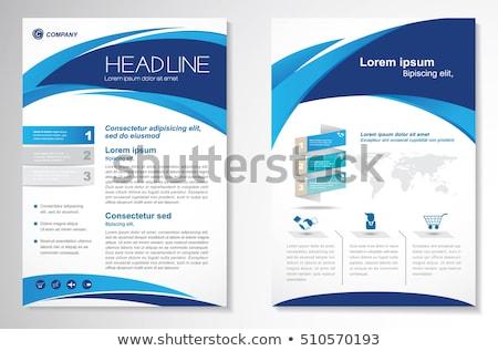üzlet szórólap poszter terv prospektus sablon Stock fotó © SArts