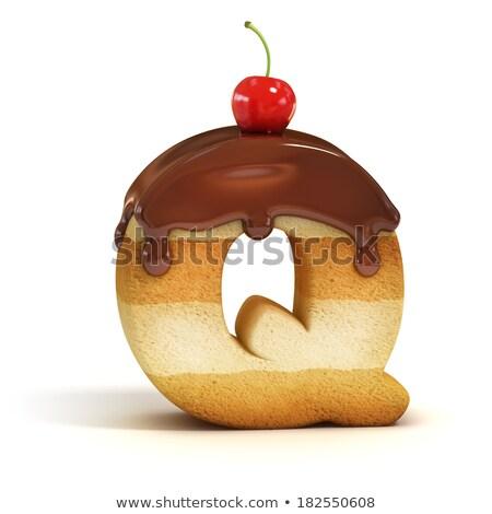 w · betű · fánk · betűtípus · fánk · ábécé · édes - stock fotó © olena
