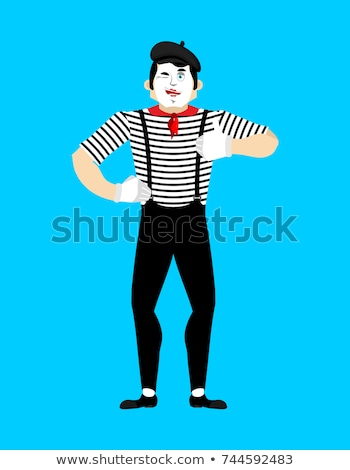 palhaço · vetor · engraçado · circo · crianças - foto stock © popaukropa