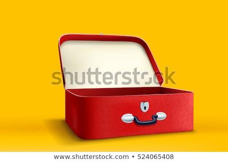 üres bőrönd utazás tok üzlet biztonság Stock fotó © popaukropa