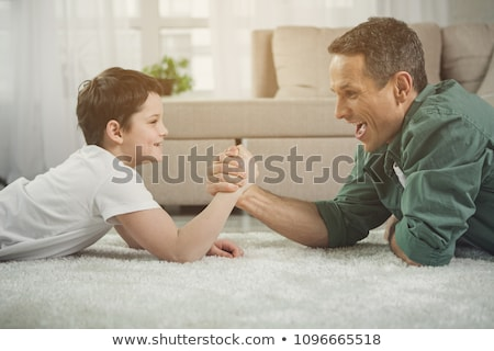 two boys arm wrestling Stock photo © IS2