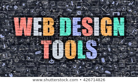 Diseno web herramientas oscuro moderna ilustración Foto stock © tashatuvango
