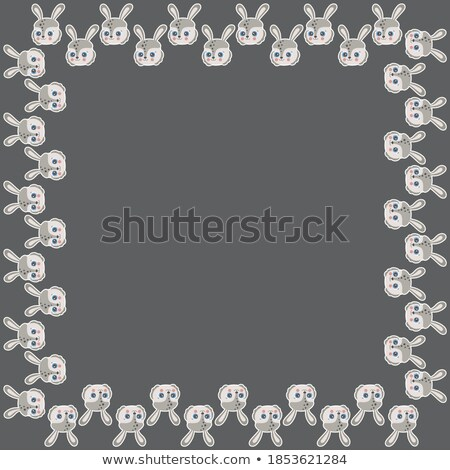 border template with brown rabbit stock photo © bluering