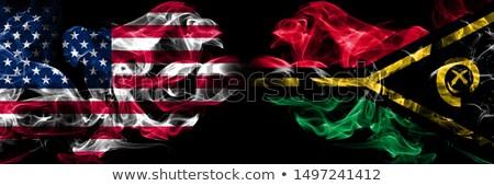 Futebol chamas bandeira Vanuatu preto ilustração 3d Foto stock © MikhailMishchenko
