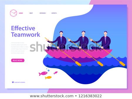 three businessmen in rowboat Stock photo © IS2