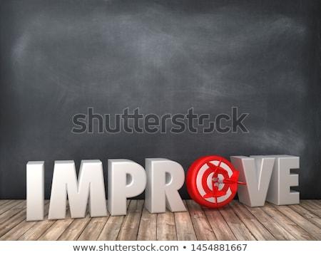 Improvement on Black Chalkboard. 3D Rendering. Stock photo © tashatuvango