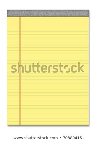 Giallo carta da lettere bianco Foto d'archivio © devon
