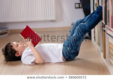 детей чтение книжные полки образование весело полу Сток-фото © IS2