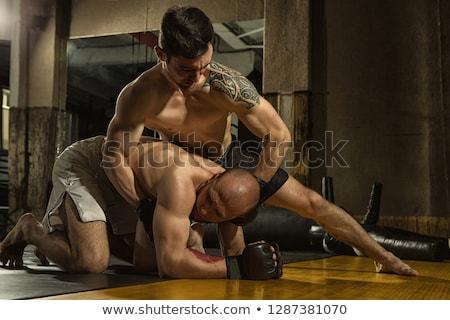 Boxeur gants noir sport fitness Photo stock © wavebreak_media