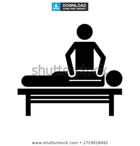 Girl lying on massage table Stock photo © IS2