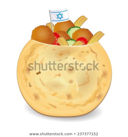 fried falafel ball stock photo © m-studio