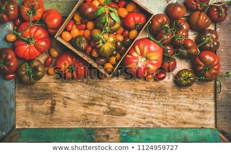Assortiment coloré tomates alimentaire rouge agriculture Photo stock © M-studio