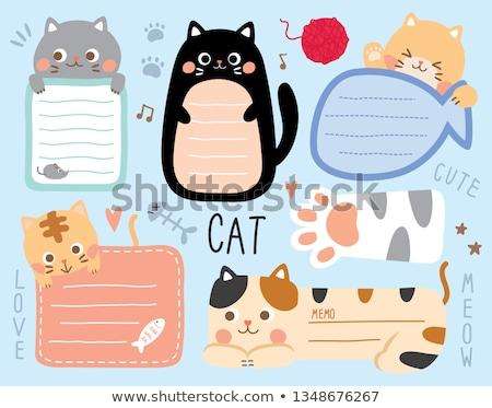 Cat Scrapbooking Paper Set Stock photo © lemony