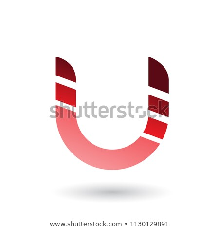 Stockfoto: Rood · gestreept · icon · brief · vector · illustratie