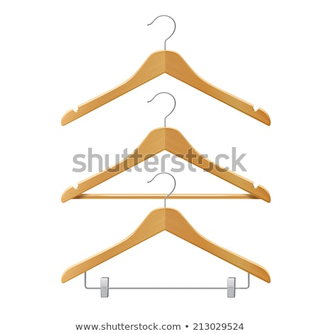 wooden clothes hangers 3d stock photo © djmilic