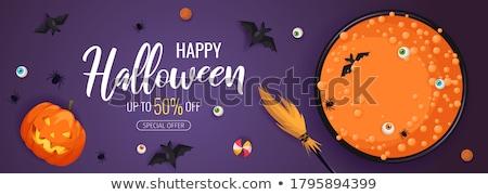 Хэллоуин продажи вектора баннер иллюстрация Scary Сток-фото © articular