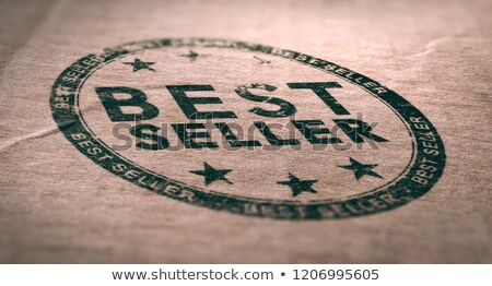 Old Best Seller Label Over Brown Paper Background Stock photo © olivier_le_moal
