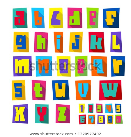 new font cut colorful letters lower case stock photo © ecelop