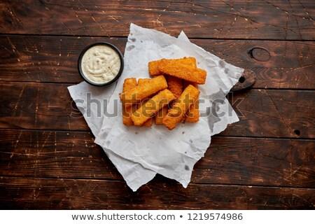 пальца · рыбы · Stick · продовольствие · детей - Сток-фото © dash