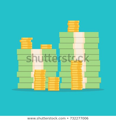 érme boglya bankjegyek üzlet pénz jegyzet Stock fotó © Zerbor