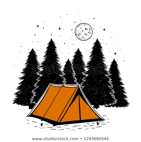 キャンプ テント 月 ベクトル アイコン デザイン ストックフォト © blaskorizov