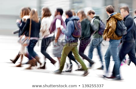 Gruppo adolescenti scena urbana illustrazione ragazza felice Foto d'archivio © bluering