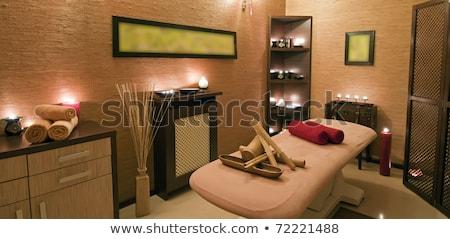 spa · stanza · verde · luci · massaggio - foto d'archivio © kzenon