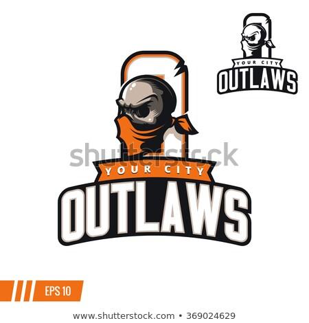 Outlaw Biker Mascot Stock photo © patrimonio