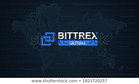 Exchange - Bittrex. The Crypto Coins or Cryptocurrency Logo. Stock photo © tashatuvango