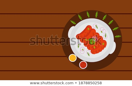 Hot Barbecue Party Closeup Vector Illustration Stock photo © robuart