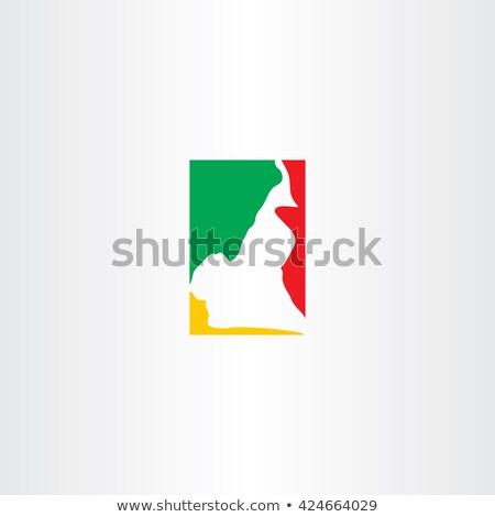 Camarões logotipo mapa ícone vetor símbolo Foto stock © blaskorizov