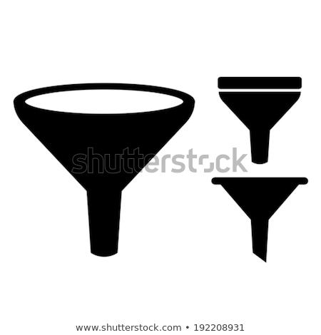 funnel vector icon clip art symbol Stock photo © blaskorizov