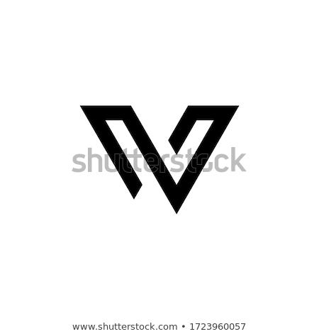 letter i black symbol logo vector icon element Stock photo © blaskorizov