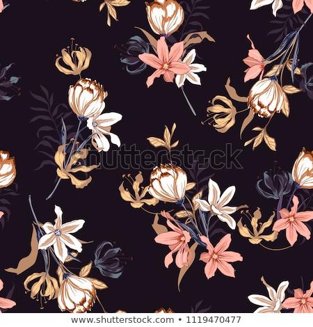 Patrón tulipanes flores silvestres elegante flores Foto stock © Margolana