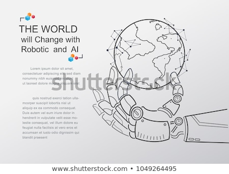 Inteligenta artificiala uman glob vector poster text Imagine de stoc © robuart