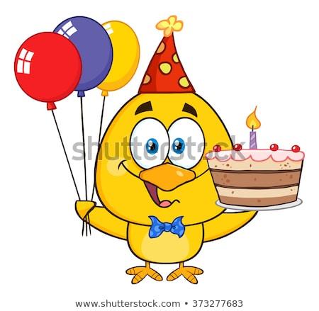 желтый куриного вечеринка Hat Сток-фото © hittoon