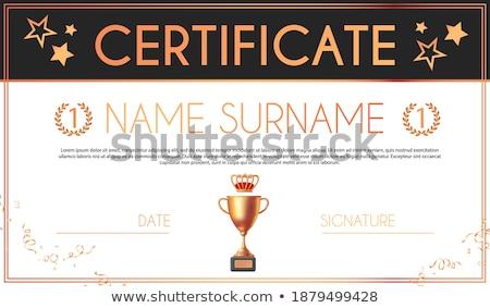Certificato diploma Cup vettore elegante Foto d'archivio © pikepicture