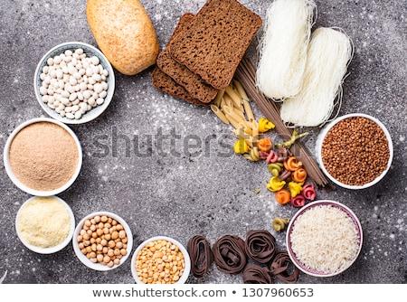 Fasoli mąka makaron tle mleka Zdjęcia stock © furmanphoto