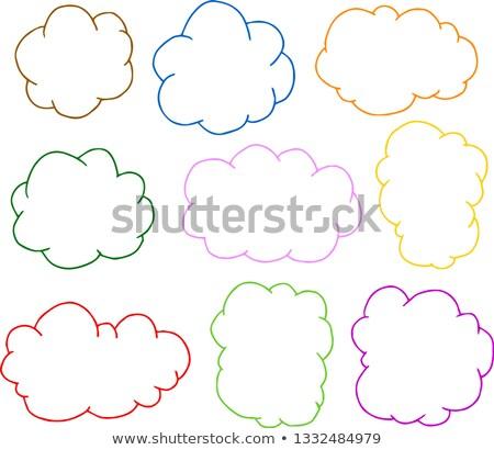 Colorido áspero esboço nuvem tipo quadro Foto stock © Blue_daemon