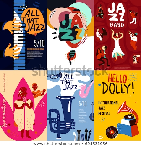 Jazz festival establecer creativa festival de música vector Foto stock © Fisher
