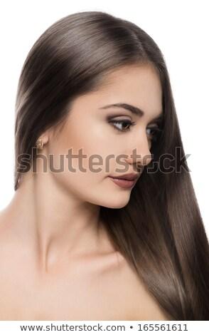 肖像 · 美人 · 髪 · 女性 · 眼 · 顔 - ストックフォト © ElenaBatkova
