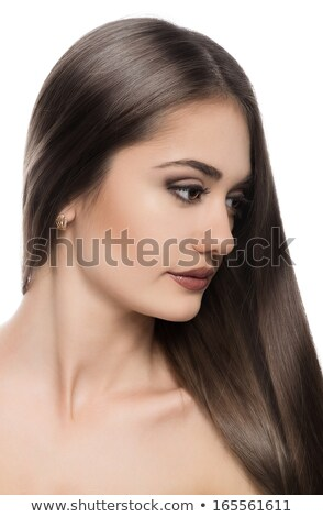 Portrait of beautiful woman with strait hair Stock photo © ElenaBatkova